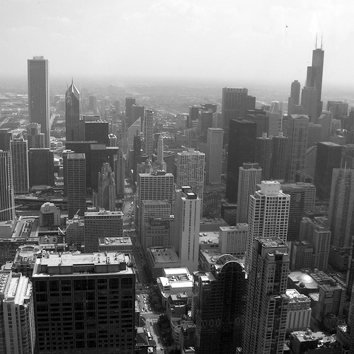 View from the 95th floor of The Hancock Tower