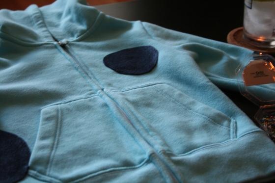 spotted hoodie