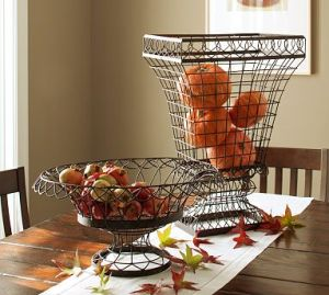 French Wire Bowl  & Urn
